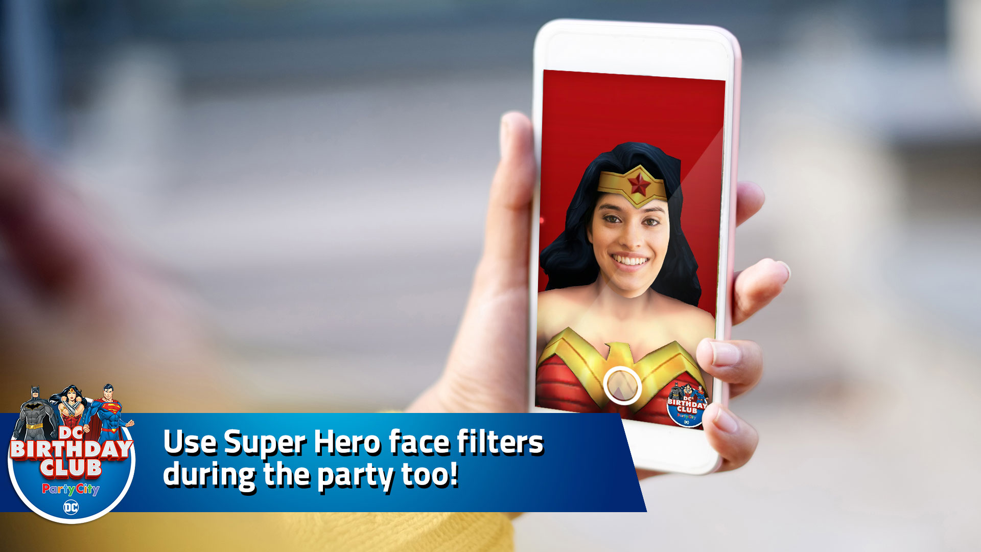Use Super Hero face filters during the party too!