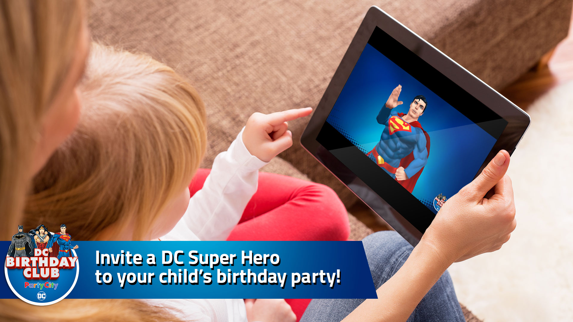 Invite a DC Super Hero to your child's birthday party!