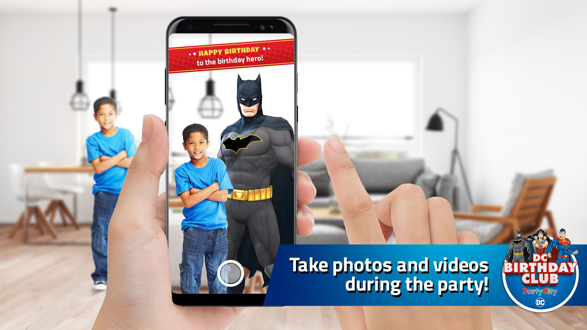 Take photos and videos during the party!