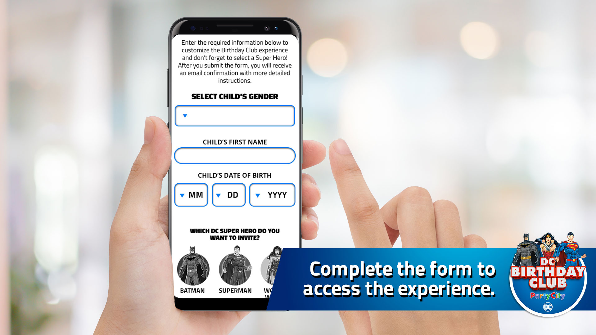 Complete the form to access the experience.
